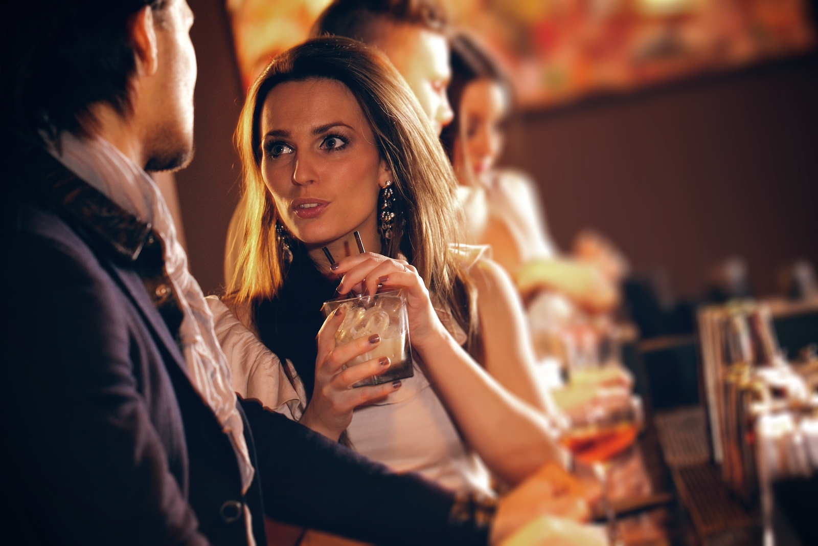 Young woman in conversation with a guy at the bar foreigngirlfriend young woman in conversation with a guy at the bar ccuart Choice Image